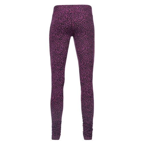 Bhaktified yoga leggings with leopard print in Very Berry