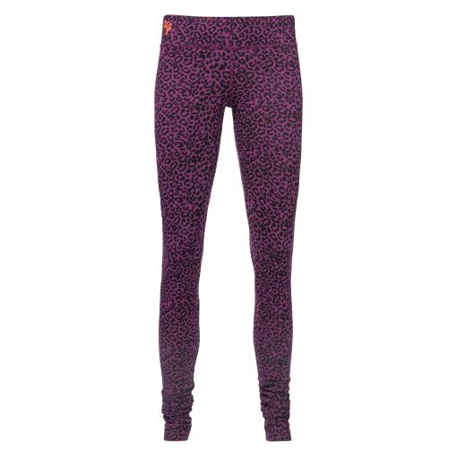 Organic Bhaktified yoga leggings with leopard print