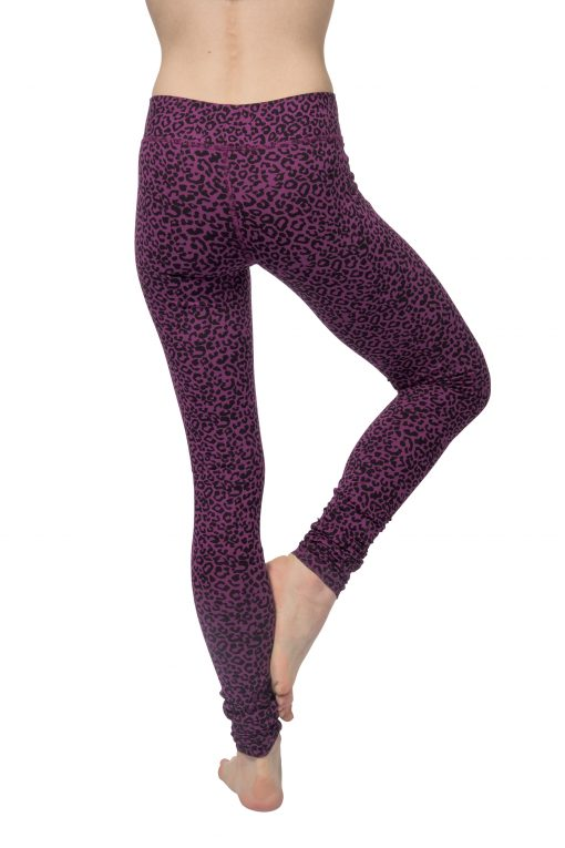 Bhaktified yoga leggings with leopard print