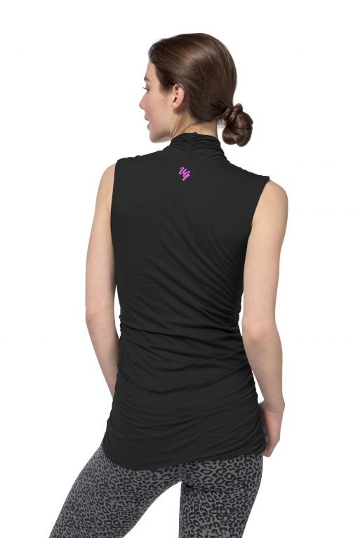 Mouwloze biologische yoga top Good Karma Urban Black