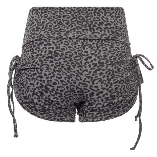 Yoga Shorts Devi Glam with leopard print