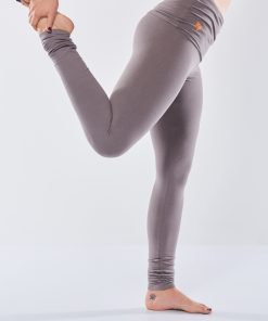 Eco yoga leggings Shaktified in grey by Urban Go with fold-over belt
