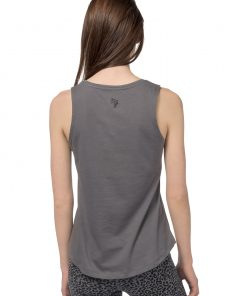 Cotton yoga tank Free Spirit in Volcanic Glass for women
