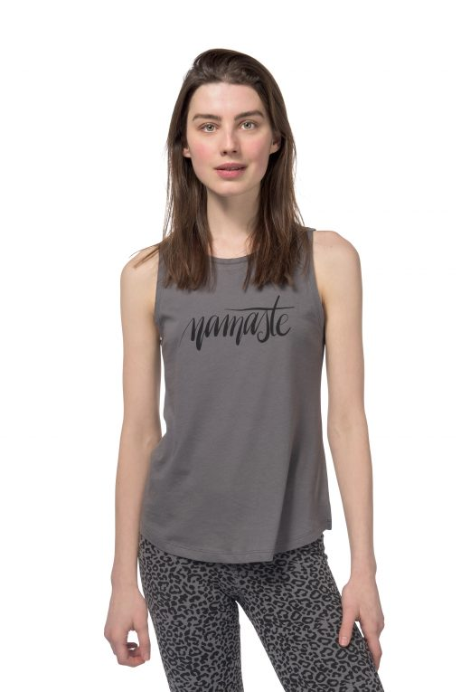 Cotton yoga tank Free Spirit in Volcanic Glass by Urban Goddess