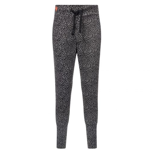 Loose fit yoga pants Life is a Dance - Volcanic Glass leopard by Urban Goddess