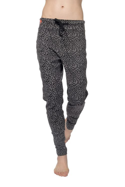 Organic oose fit yoga pants Life is a Dance - Volcanic Glass leopard