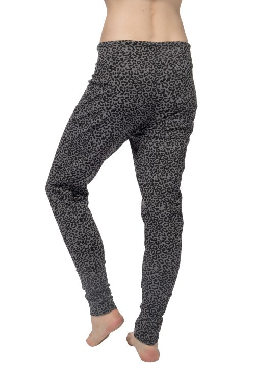 Dames loose fit yoga broek Life is a Dance - Volcanic Glass leopard