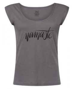 Free Spirit Yoga Tee Volcanic Glass - front2