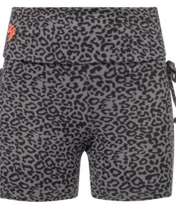 Devi Glam Yoga Shorts Volcanic Glass-front_long