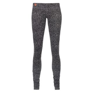 eco cotton yoga leggings Bhaktified Volcanic Glass with leopard print