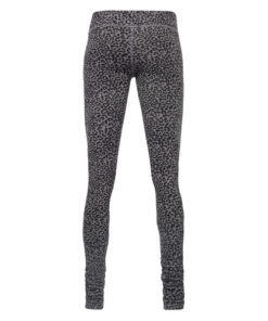 Organic cotton yoga leggings Bhaktified Volcanic Glass with leopard print