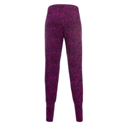 Life is a Dance yoga pants with animal print - Very Berry by Urban Goddess