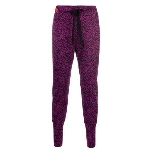 Life is a Dance yoga pants with animal print - Very Berry