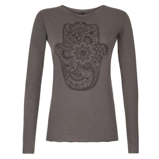 Cotton yoga shirt Protection in Volcanic Glass
