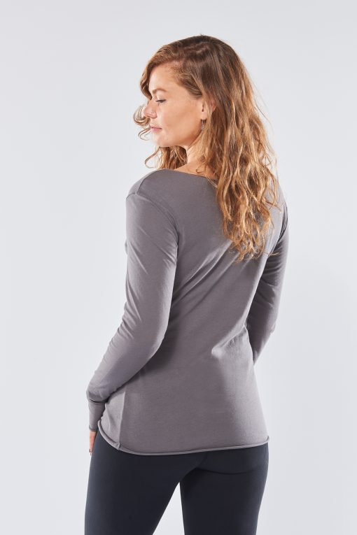 Cotton yoga shirt Protection with long sleeves - for women