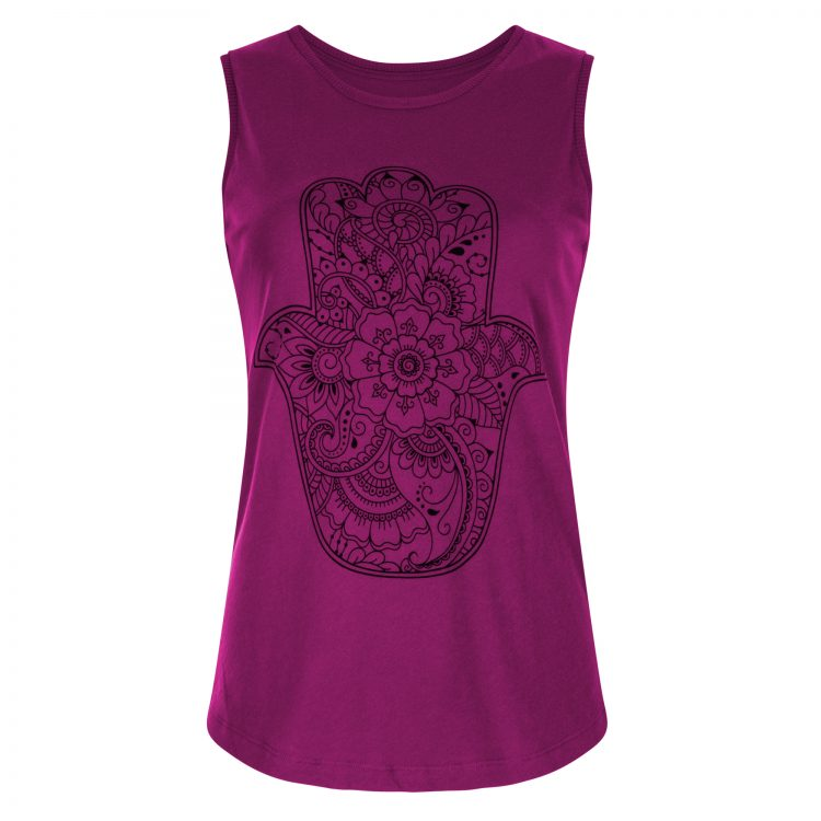Yoga Tank Top Protection - Very Berry voorkant