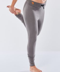 Cotton yoga pants Life is a Dance with drawstring for women