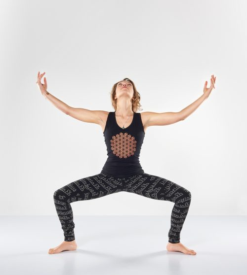 Yoga top mandala yogal eggings bhaktified urban black shanti