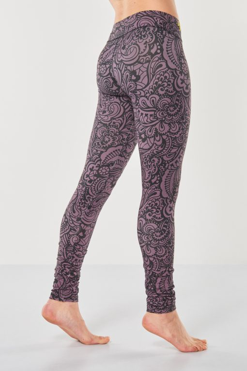 cool yoga leggings Bhaktified Anjali with floral print by Urban Goddess yoga wear