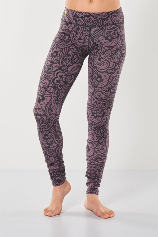 cool yoga leggings Bhaktified Anjali with floral print for women
