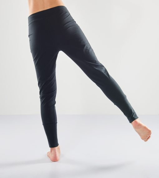 Organic Loose fit yoga pants Life is a Dance in black for women