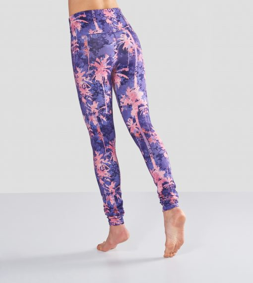Sports Yoga Leggings Satya with print made of bamboo and organic cotton