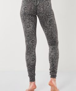 Bhaktified Anjali yoga leggings with print for women