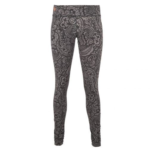 Bhaktified Anjali yoga leggings with print in Volcanic Glass