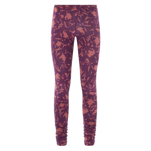 Printed bamboo yoga leggings Satya Ojas - Rock Crystal by Urban Goddess