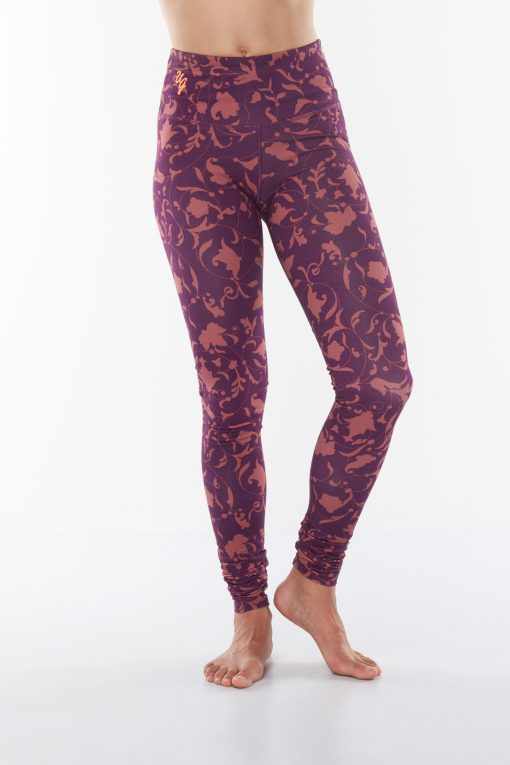 Printed bamboo yoga leggings Satya Ojas - Rock Crystal for women