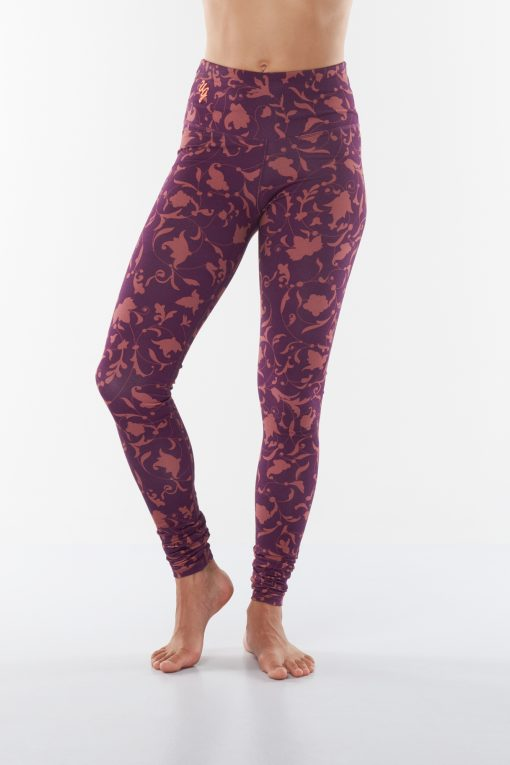 Printed bamboo yoga leggings Satya Ojas - Rock Crystal with print