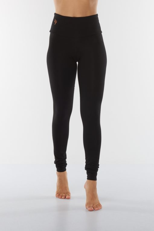 Bamboo Yoga Leggings Satya - Urban Black - active wear