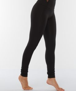 Bamboo Yoga Leggings Satya - Urban Black - yoga leggings for women