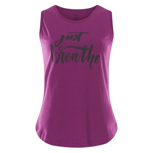 Hippe Yoga Tank Top Just Breathe - Rock Crystal