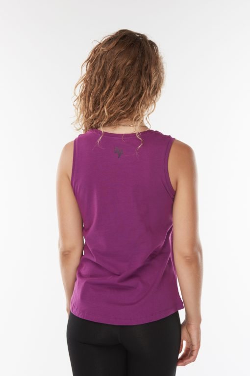 Hippe Yoga Tank Top Just Breathe - Rock Crystal van biologisch katoen