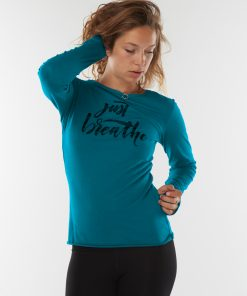 Just Breathe long sleeved yoga shirt - Stardust made from organic cotton
