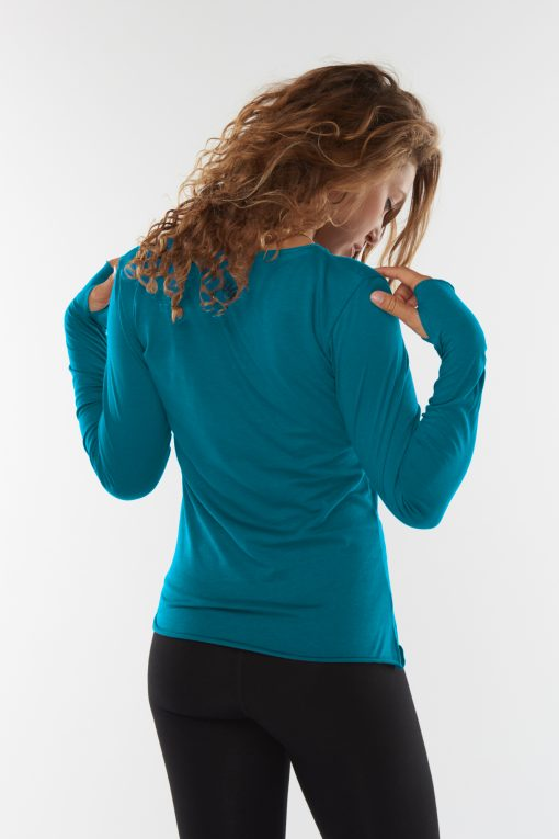 Just Breathe long sleeved yoga shirt - Stardust made for women
