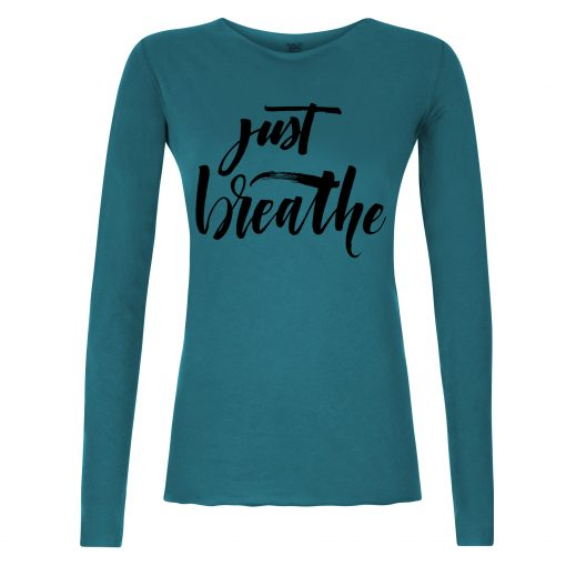 Just Breathe long sleeved yoga shirt - Stardust