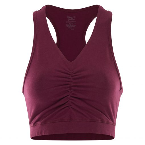 Yoga sports bra Ananda in Deep Cherry