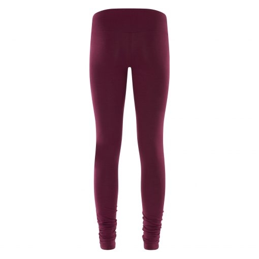 Satya yoga legging met bamboe in Deep Cherry van Urban Goddess
