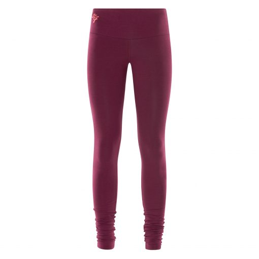 Satya yoga legging met bamboe in Deep Cherry