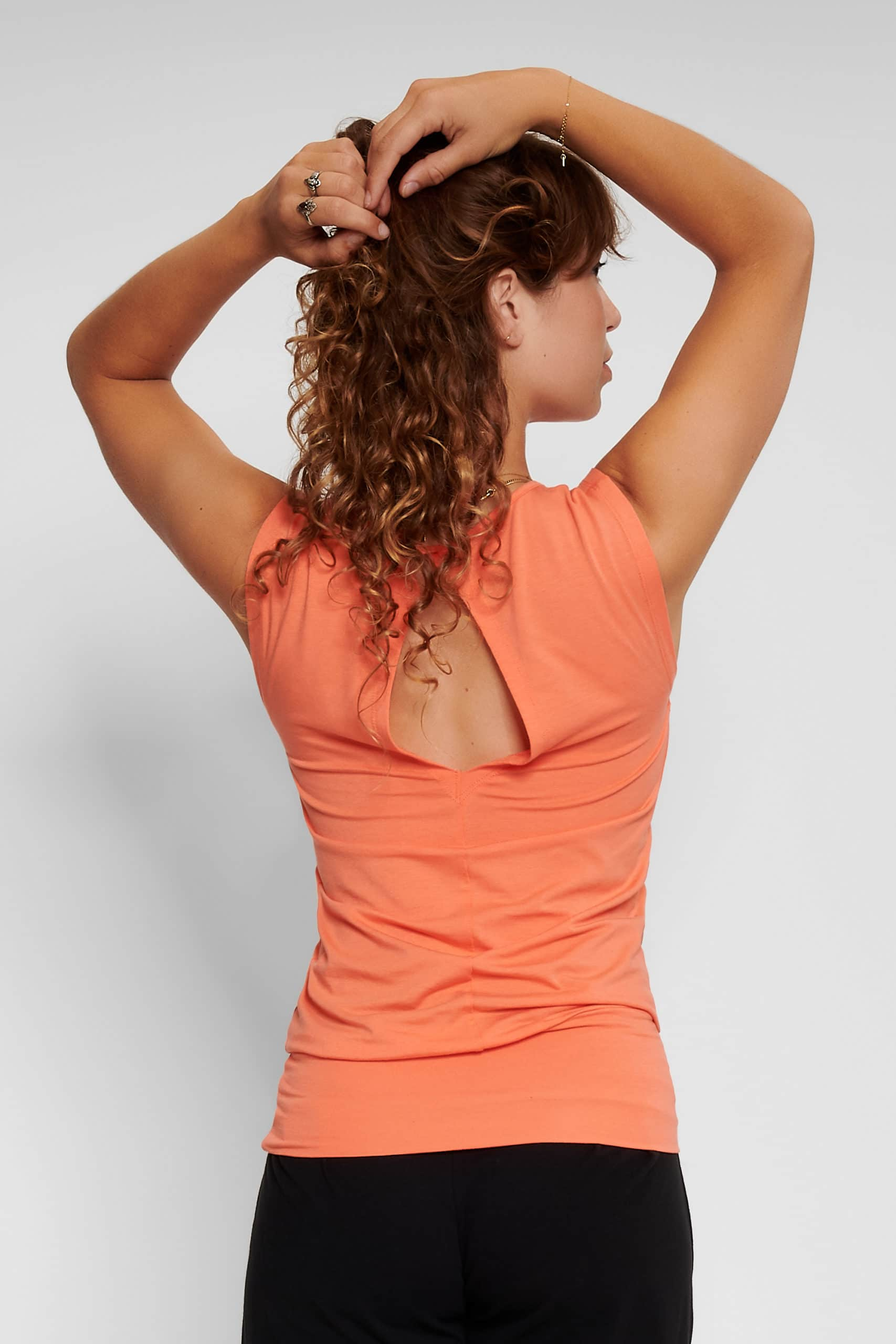 Bhav Yoga Top with wide waist band -CoralKisses -by Urban Goddess yoga wear